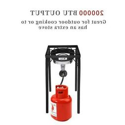 New Outdoor 200000 BTU Cooking Gas Single Burner Stove BBQ G