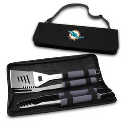 PICNIC TIME NFL Miami Dolphins Metro 3-Piece BBQ Tool Set in