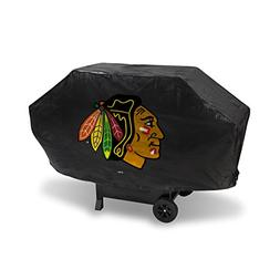 NHL Chicago Blackhawks Deluxe Grill Cover, Black, 68 x 21 x