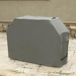 Outdoor Grill Cover 65 X 26 X 46 Inch Gunmetal Gray With Wat
