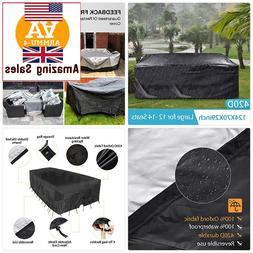 Outdoor Patio Furniture Covers+315x180x74cm 420D Oxford Poly
