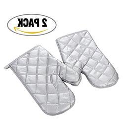 1 pair Oven Roaster Mitts Anti-hot Non Slip Gloves for Bakin