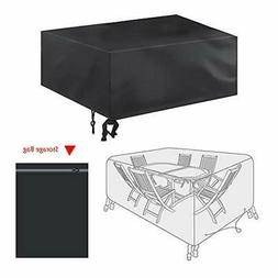 bigzzia Patio Furniture Set Cover, 180 x 120 x 74cm/70.8 x 4