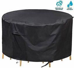 PATIOPTION Patio Furniture Set Covers, 600D Waterproof 62Dia