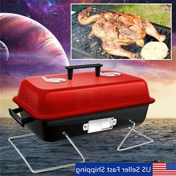 Portable Barbecue Charcoal Grill BBQ Stainless Indoor Outdoo