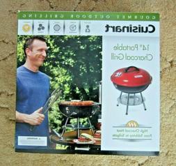 "Cuisinart 14"" Portable Charcoal Grill, Black"