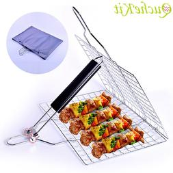 Portable Non-stick BBQ Grilling Mats Net <font><b>Stainless<