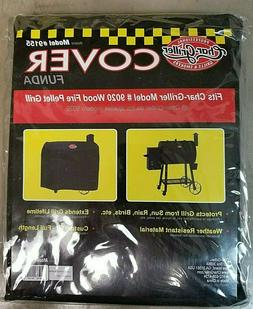 """PRO Char-Griller 50"""" x 51"""" Black Polyester Grill Cover BBQ"""