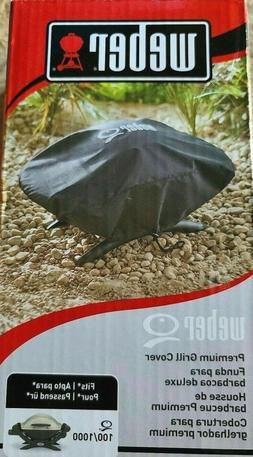 Weber Q Series Black Premium Grill Cover 7110 Fits Q100/Q100