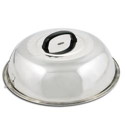 Round Basting Cover Stainless Steel Grill BBQ Wok Cooking Bl