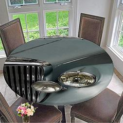 Mikihome Round Fitted Tablecloth The Chrome Grill and Headli