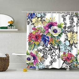 Shower Curtain with Hook,Elevin Waterproof Various Pattern