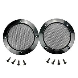 2 pcs Speaker Grills Cover Case with 8 pcs Screws for 5 Inch