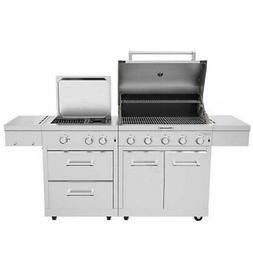KitchenAid Stainless Steel 8-burner Grill, 1180 sq in Surfac