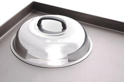 Stainless-Steel Basting Cover Round Melt Cheese Steam Griddl