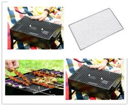 Stainless Steel BBQ Grill Grate Grid Wire Mesh Rack Cooking
