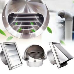 Stainless Steel Wall Air Vent Ducting Ventilation Exhaust Gr