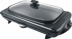 Tayama TG-821 Electric Griddle with Glass Cover, Black