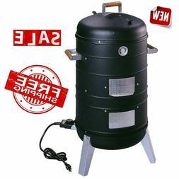 Vertical Electric Water Smoker Grill Black 2 Rack Heat Resis