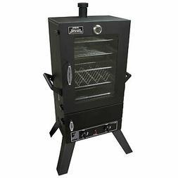 Smoke Hollow 44 in. Vertical 2-Door Gas Smoker Window Black