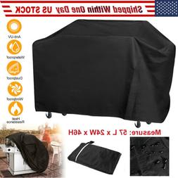 "Waterproof Outdoor 58"" Barbecue BBQ Gas Grill Cover Black Sm"