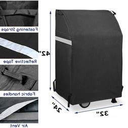 """32"""" Waterproof Heavy Duty Grill Cover For Weber, Charbroil,"""