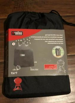Weber 7149 black Grill Cover with  Storage Bag 22.5-Inch Cha