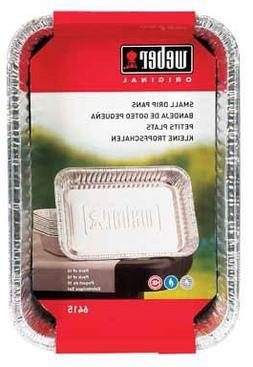 Weber Small Drip Pans Aluminum 8.5 X 6