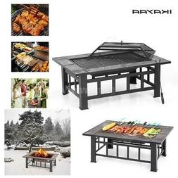 Wood Burning Barbecue Grill Patio Cooking Outdoor BBQ Grill