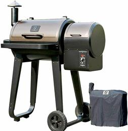 450SQ.IN Wood Pellet Grill BBQ Smoker with Auto Temp Control